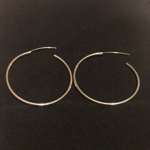 Jewelry - Silver hoops never worn